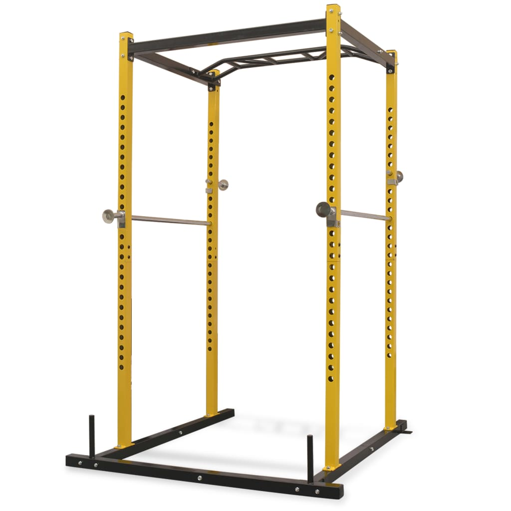 Fitness Power Rack 140x145x214 cm Yellow and Black