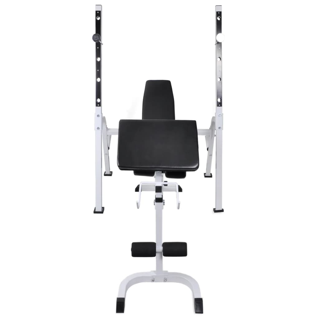 Workout Bench with Weight Rack Barbell and Dumbbell Set 30.5kg