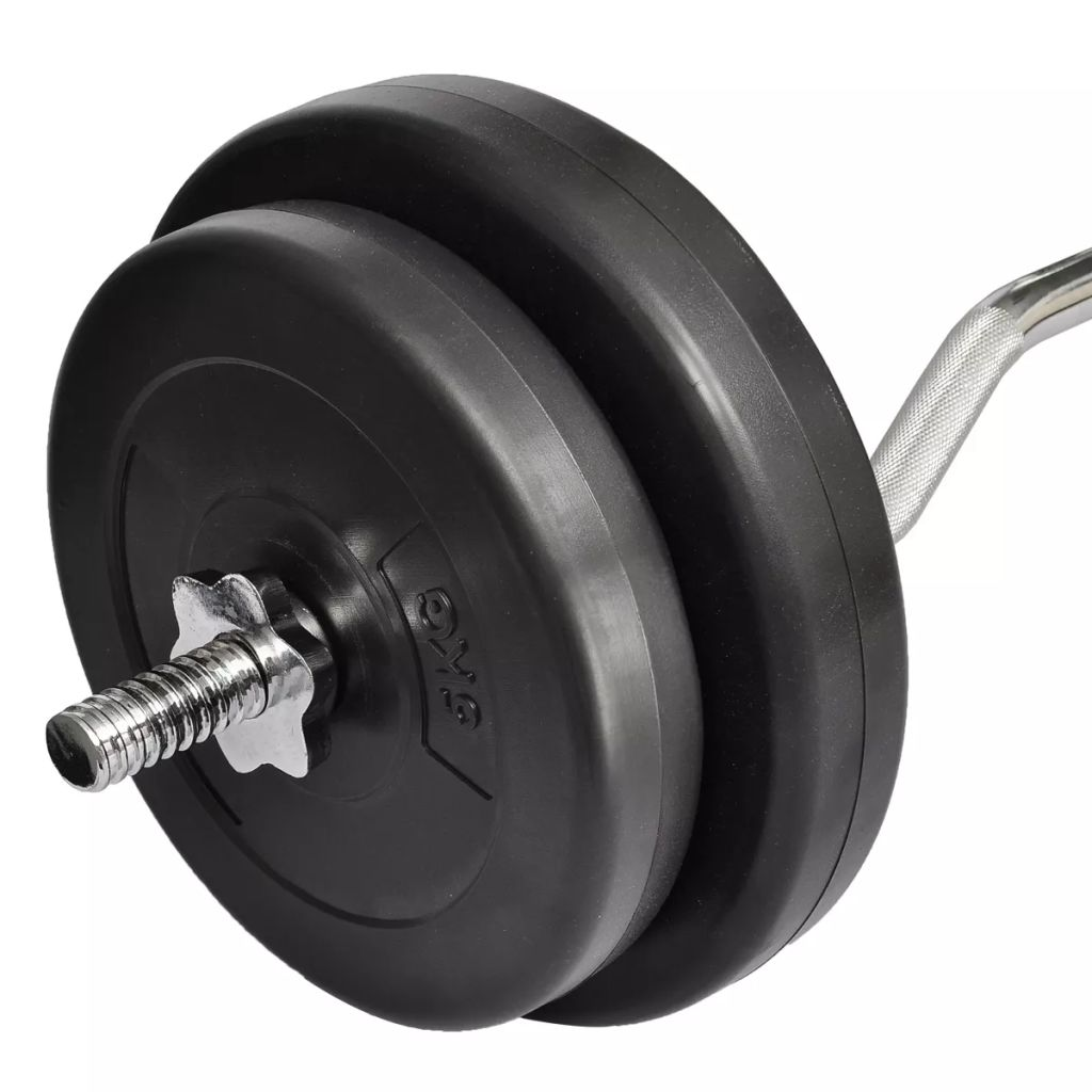 Curl Bar with Weights 30kg