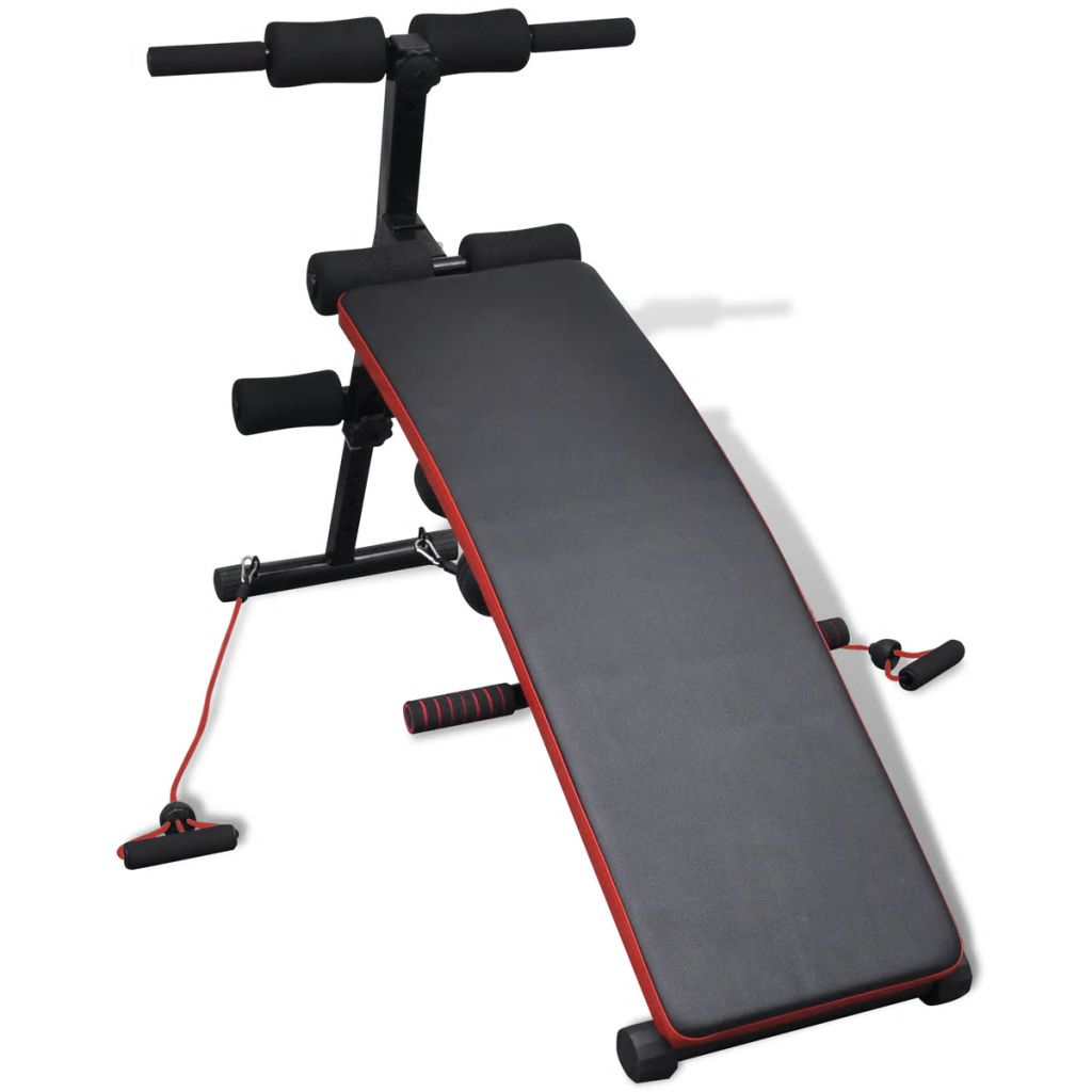 Adjustable Multifunctional Sit Up Bench with 3 kg Dumbbells