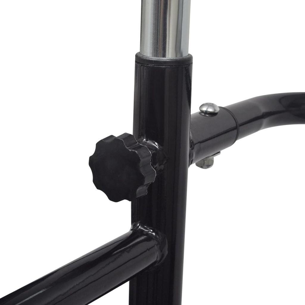 Adjustable Pull-up / Dip Station 175-224 cm Black