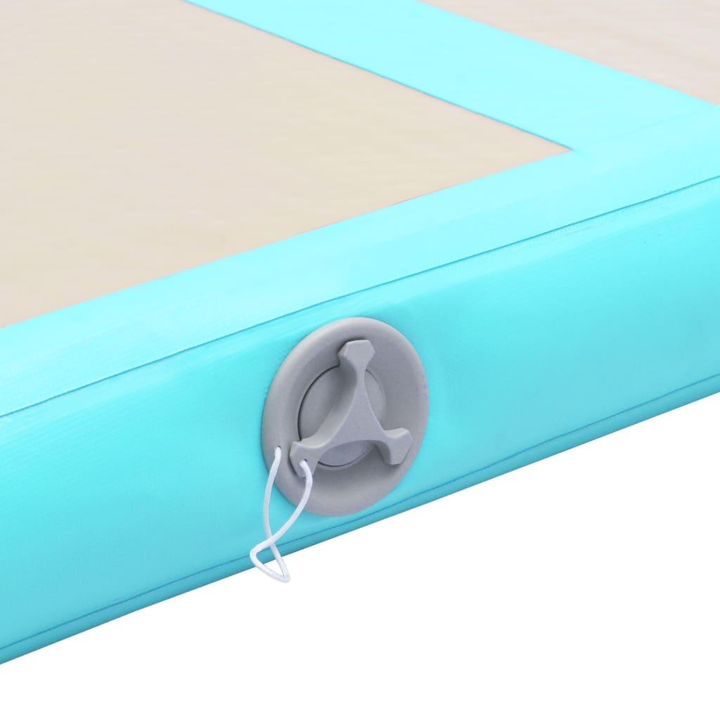 Inflatable Gymnastics Mat with Pump 300x100x10 cm PVC Green